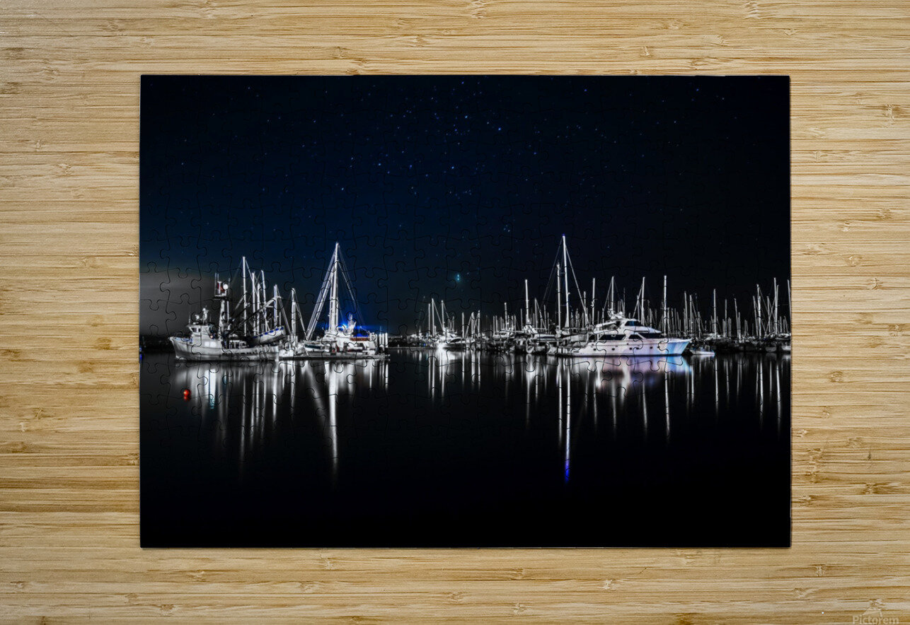 Midnight Stillness  HD Metal print with Floating Frame on Back