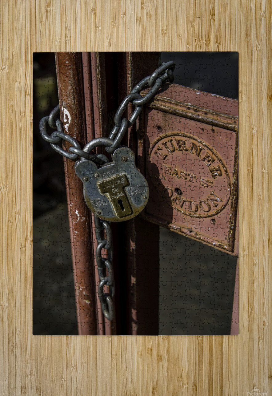 Locked Out  HD Metal print with Floating Frame on Back