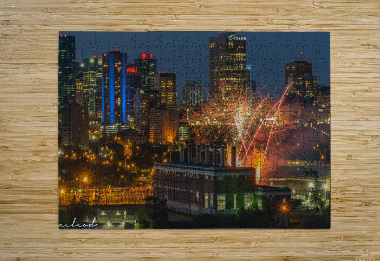 YEG_Fireworks_DSC_9297  HD Metal print with Floating Frame on Back