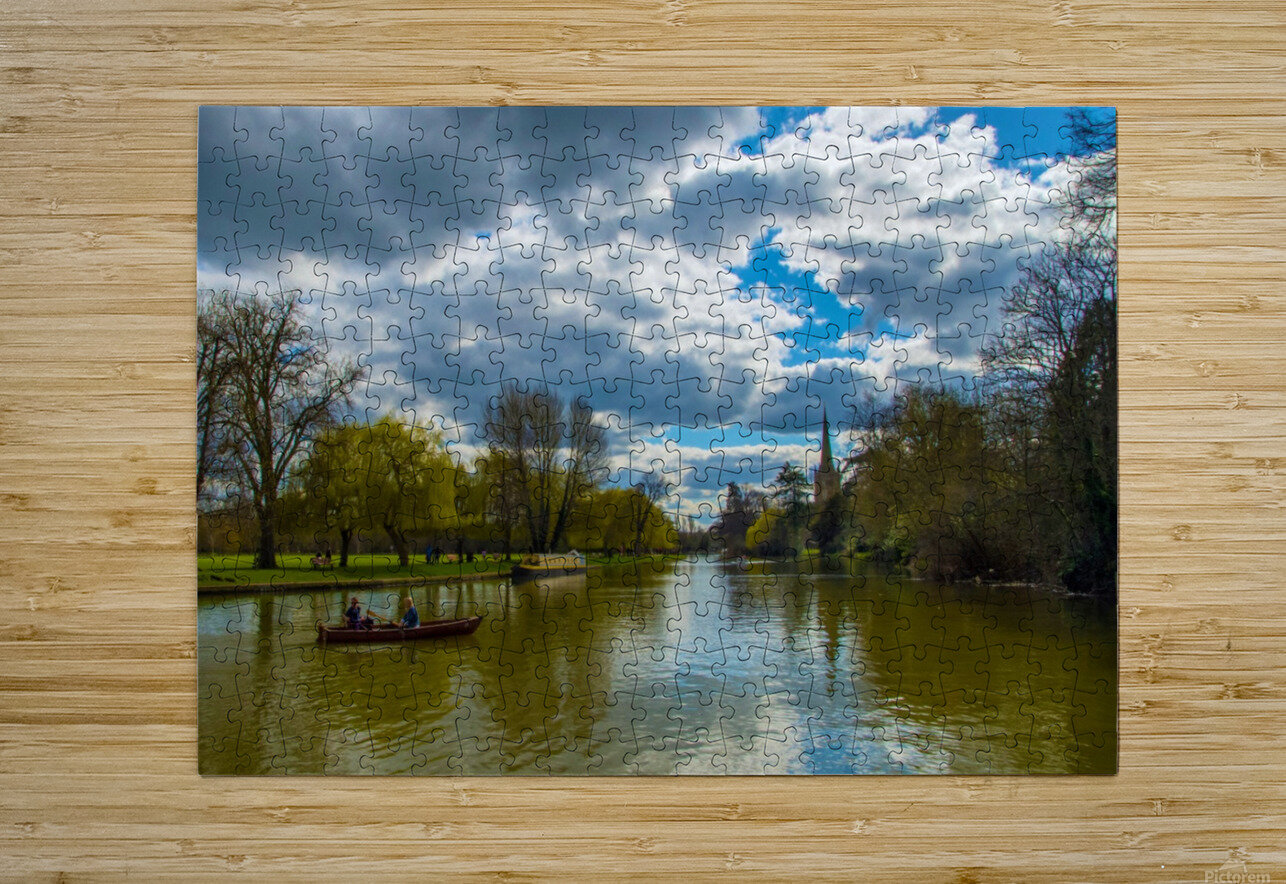 Stratford-Upon-Avon River  HD Metal print with Floating Frame on Back