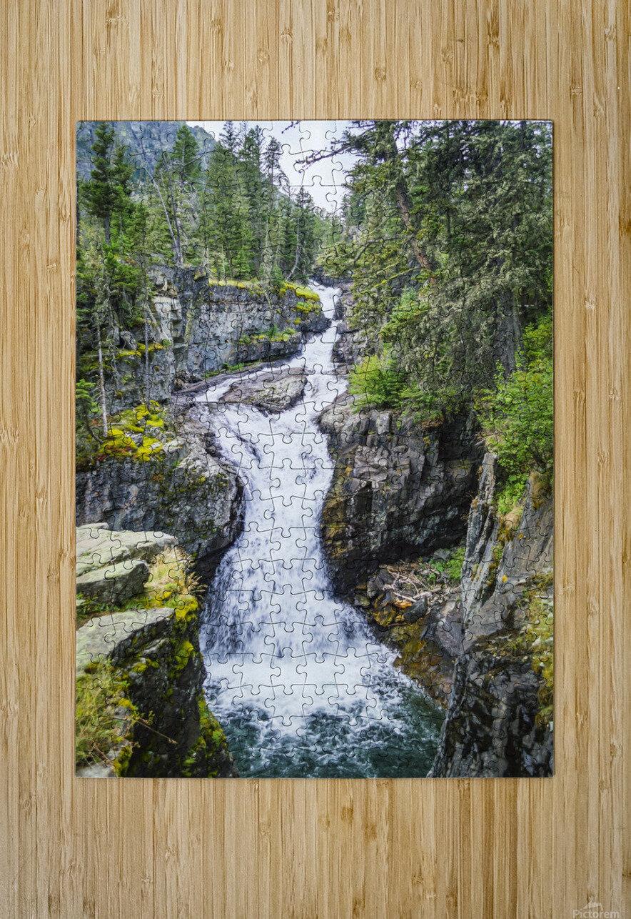 Big TImber Creek  HD Metal print with Floating Frame on Back