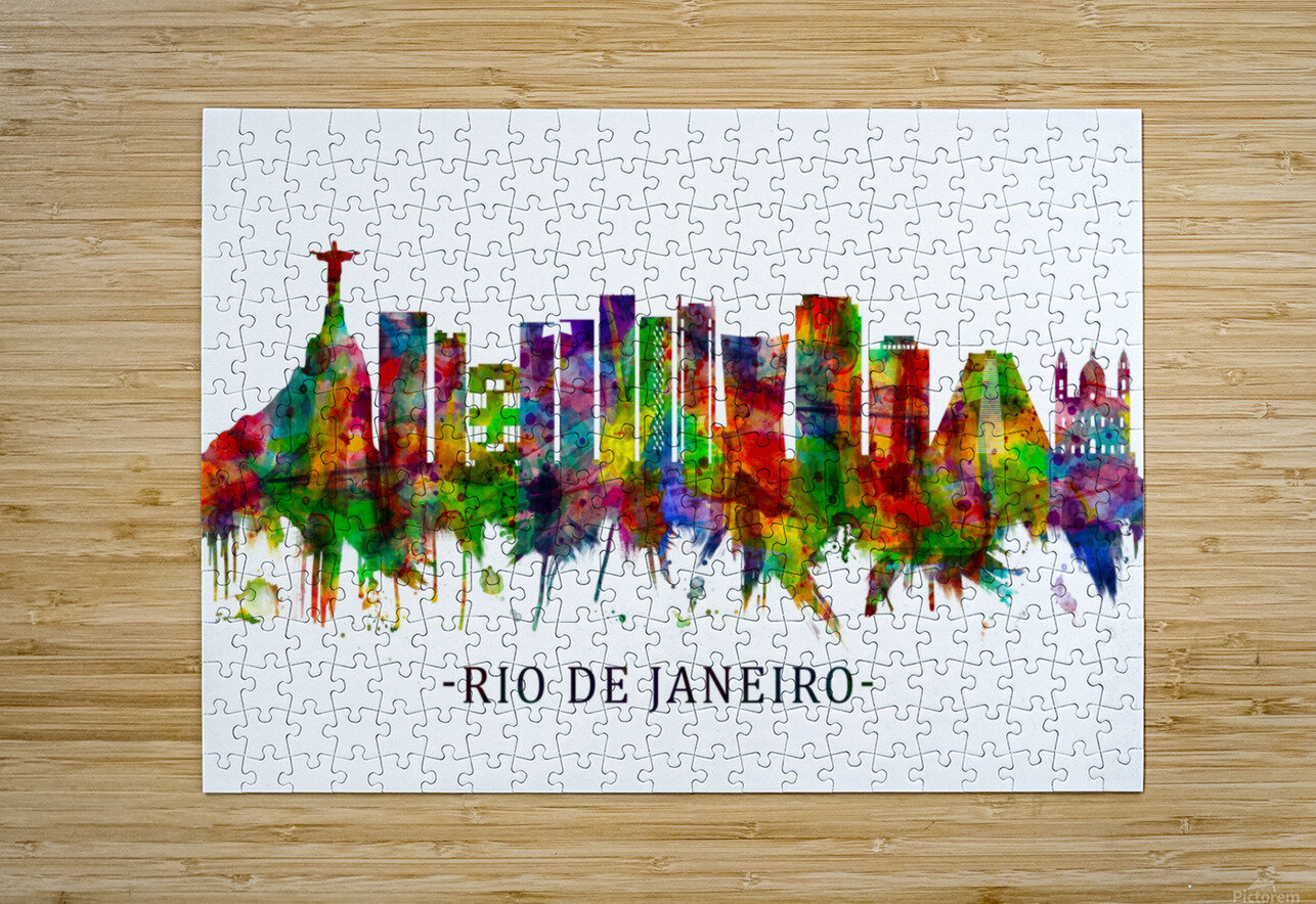Rio de Janeiro Brazil Skyline  HD Metal print with Floating Frame on Back