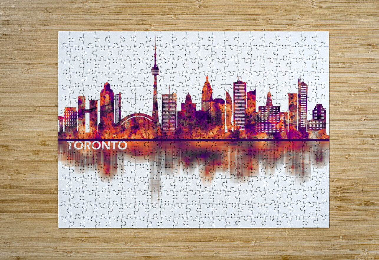 Toronto Canada Skyline  HD Metal print with Floating Frame on Back