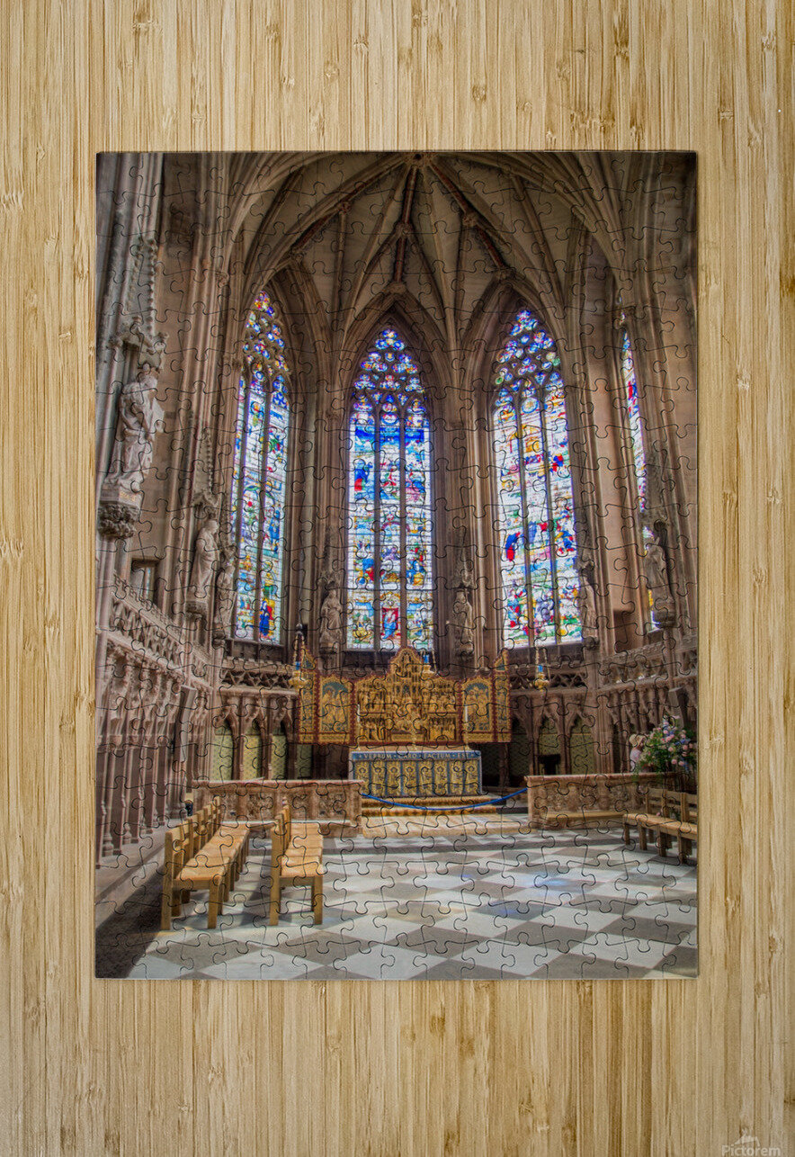 Litchfield Cathedral  HD Metal print with Floating Frame on Back