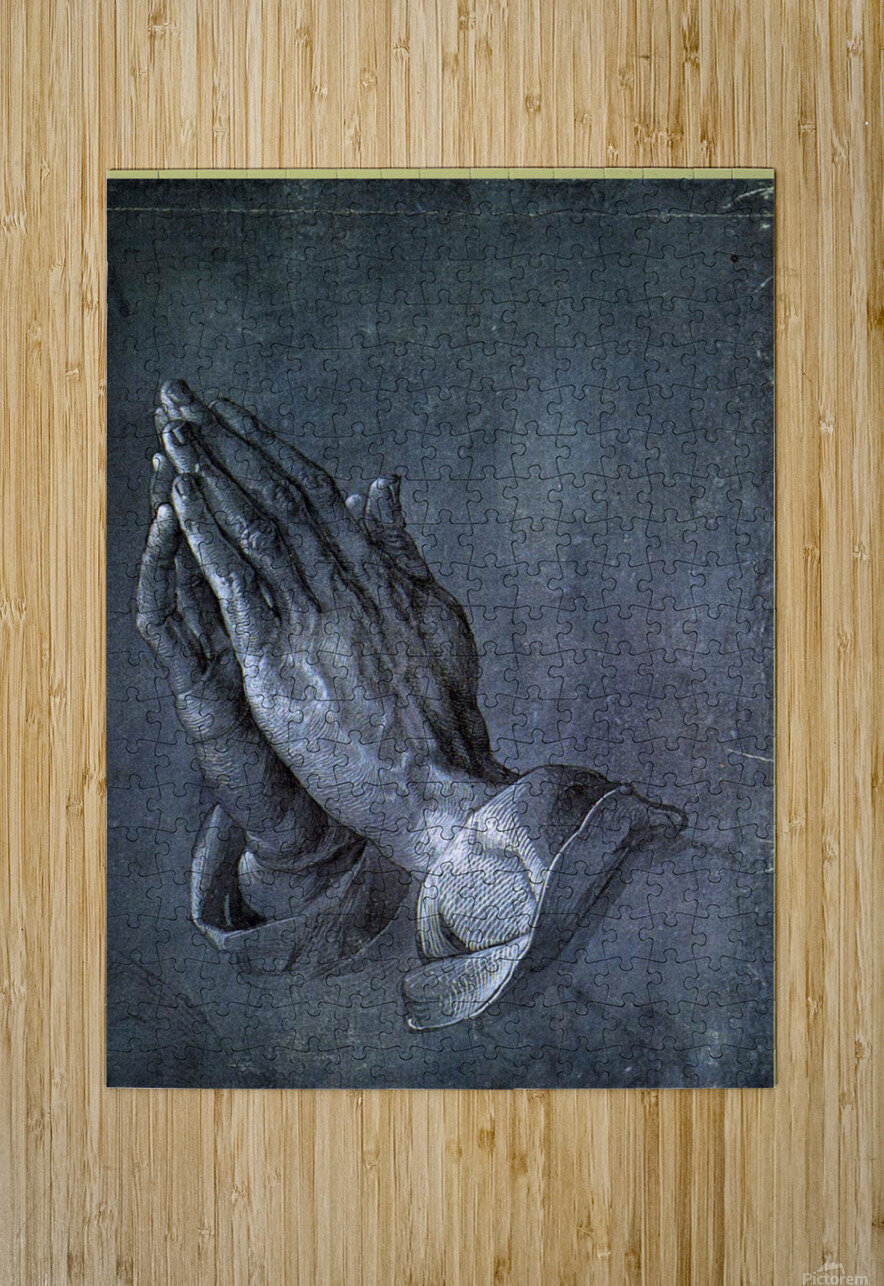 Hands of an Apostle  HD Metal print with Floating Frame on Back