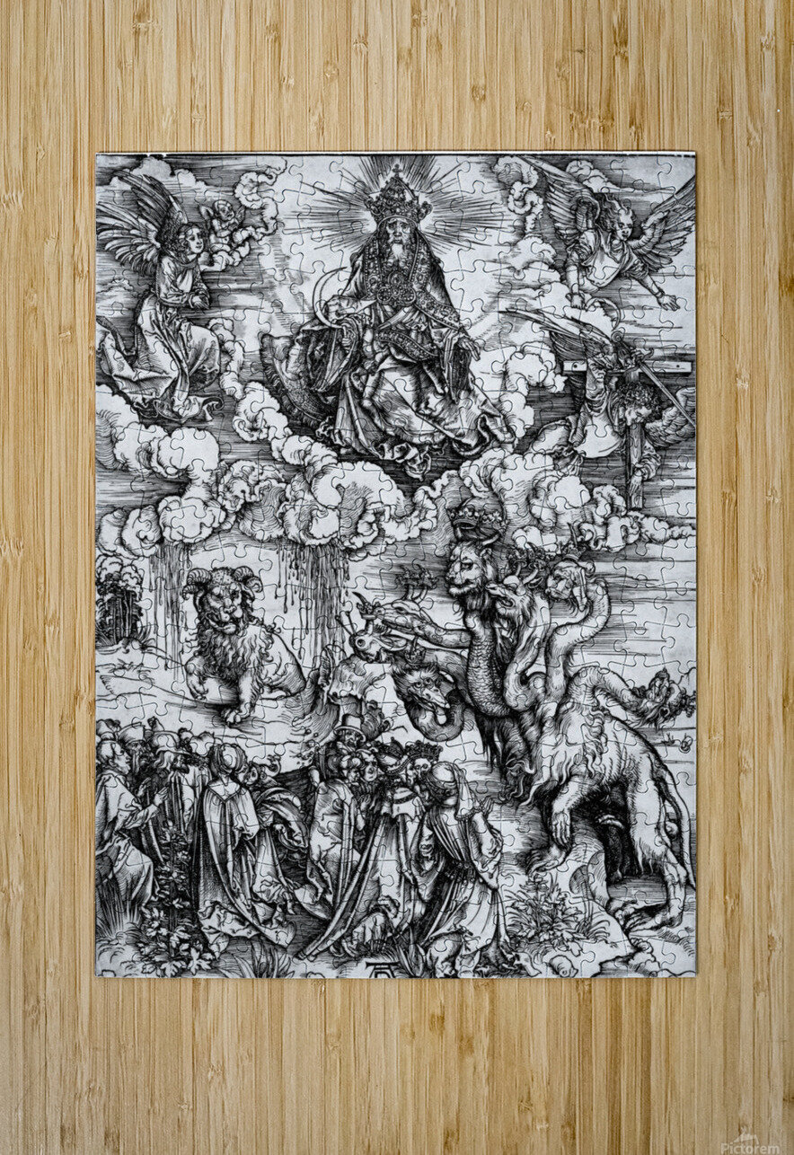 The Revelation of St John The Sea Monster and the Beast with the Lambs Horn  HD Metal print with Floating Frame on Back