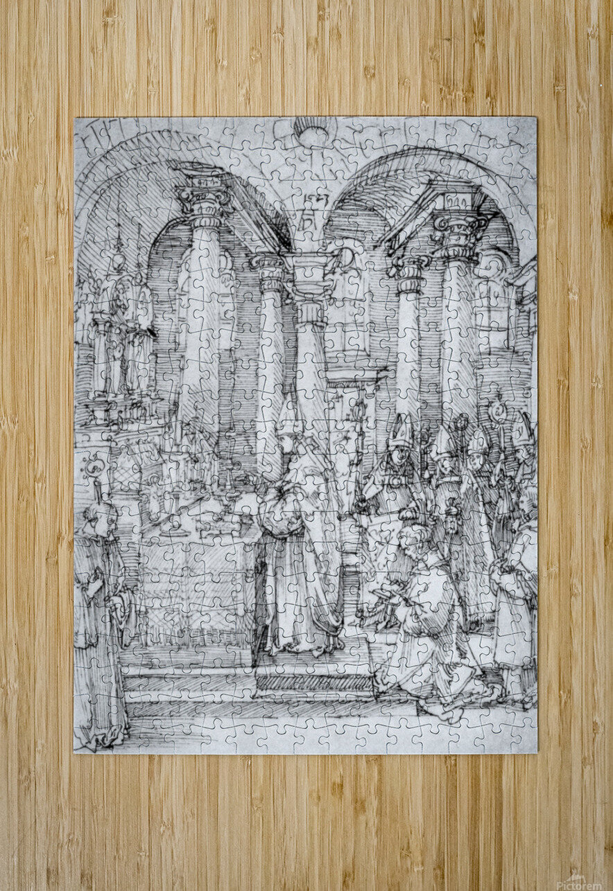 Mass of Cardinal Albrecht of Brandenburg in the Abbey Church Hall  HD Metal print with Floating Frame on Back