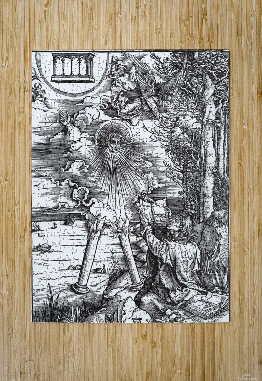 St. John Devouring the Book from the 'Apocalypse'  HD Metal print with Floating Frame on Back