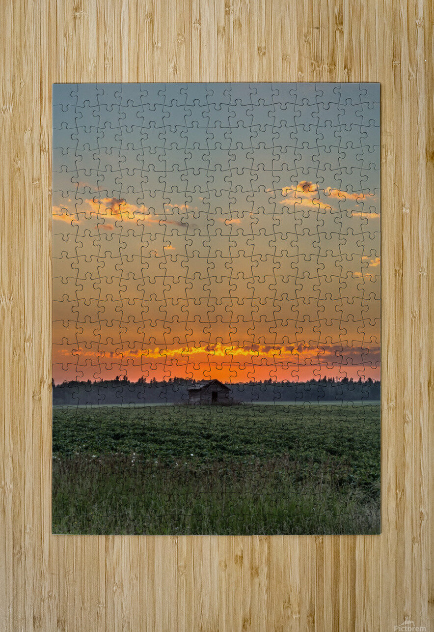 Sunset Hut  HD Metal print with Floating Frame on Back