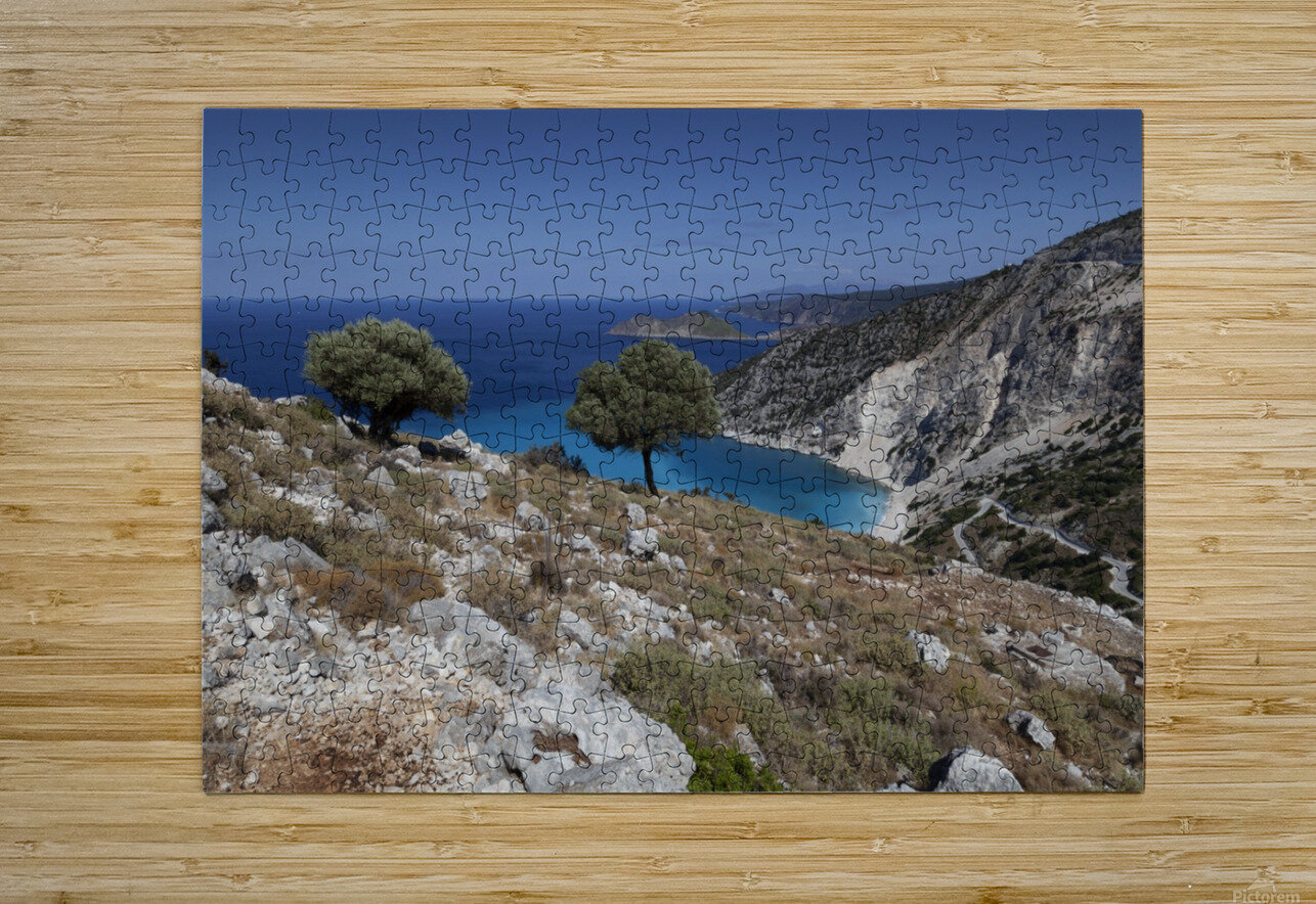 The Greek island of Kefalonia  HD Metal print with Floating Frame on Back