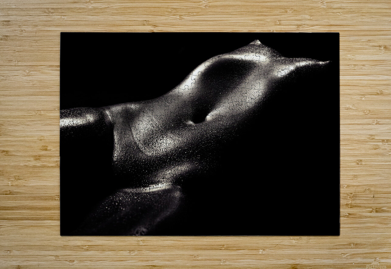Woman wet bodyscape 2  HD Metal print with Floating Frame on Back