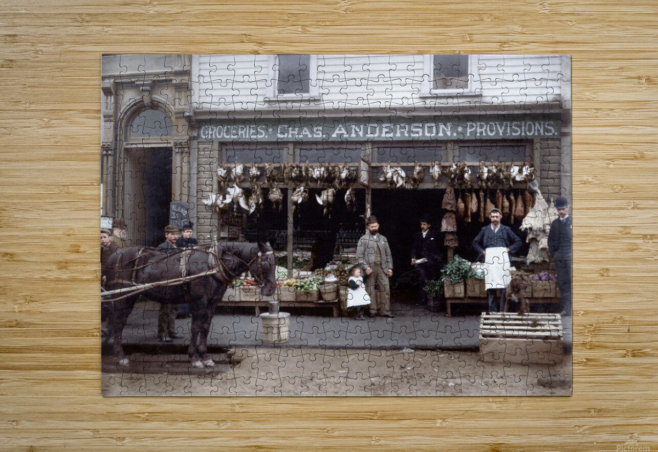 Chas Anderson Grocery Vancouver 1890s  HD Metal print with Floating Frame on Back