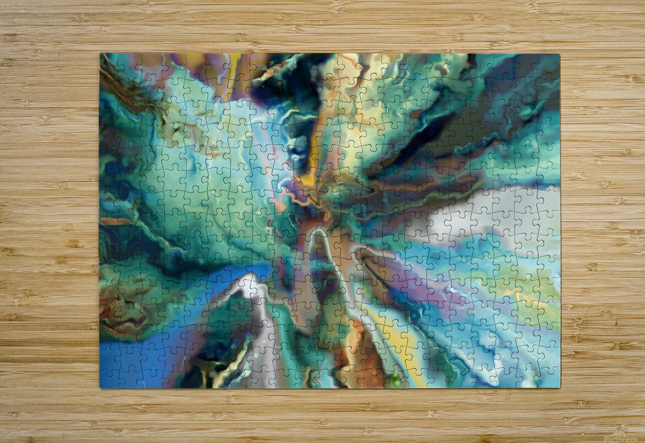 Color Galaxy 20  HD Metal print with Floating Frame on Back