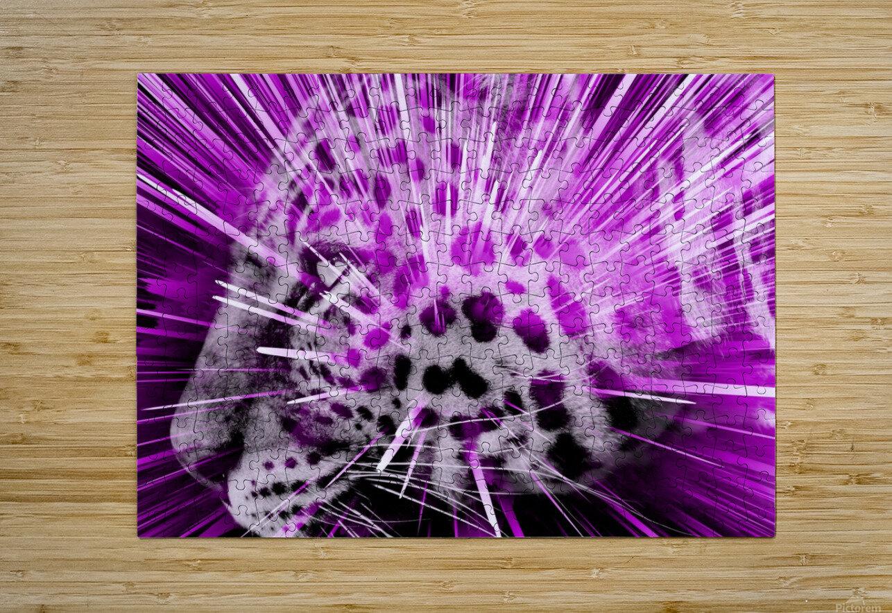 Leopard pop 3  HD Metal print with Floating Frame on Back