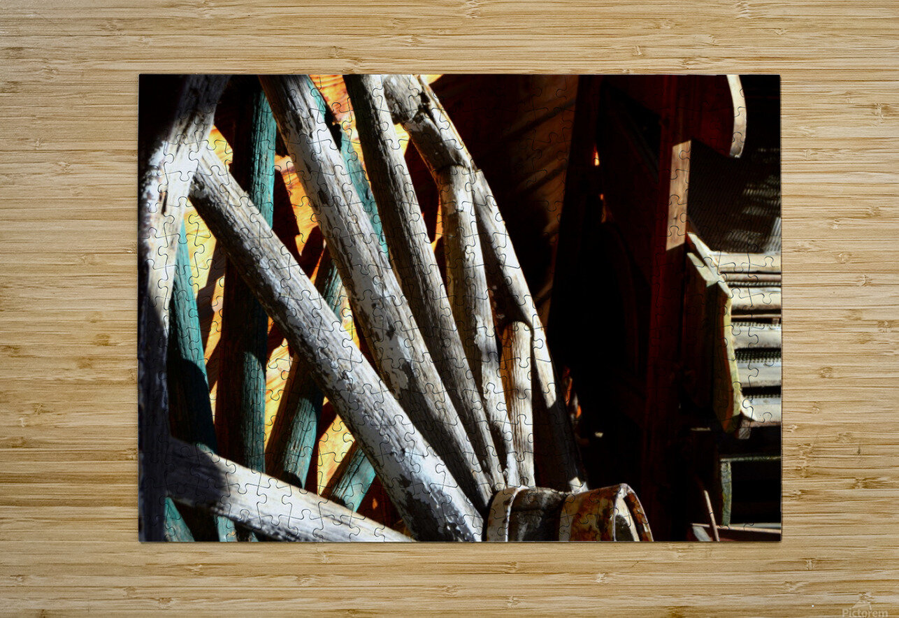 Wagon Wheels.04  HD Metal print with Floating Frame on Back