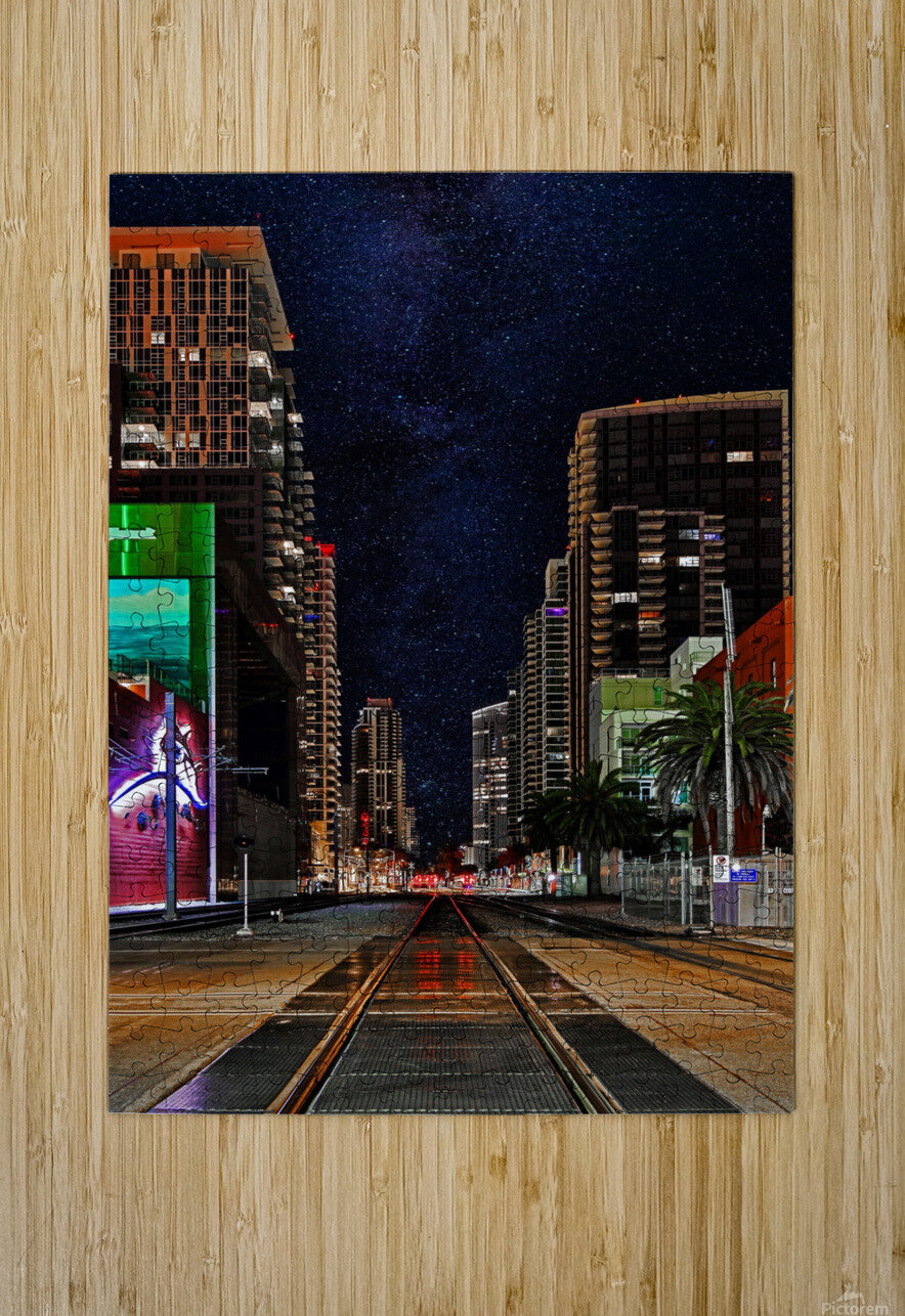 Midnight City Blues  HD Metal print with Floating Frame on Back