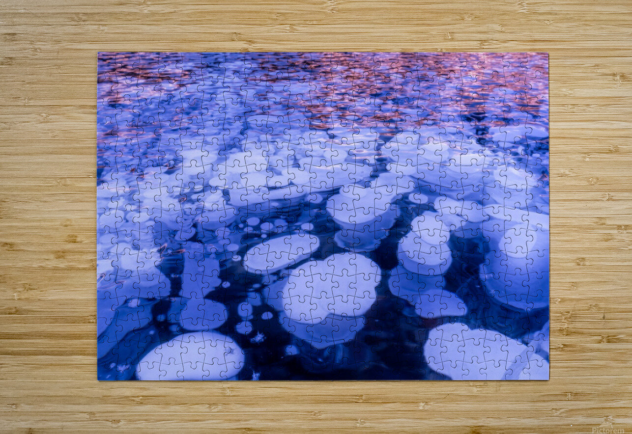 Abraham Lake Bubbles  HD Metal print with Floating Frame on Back