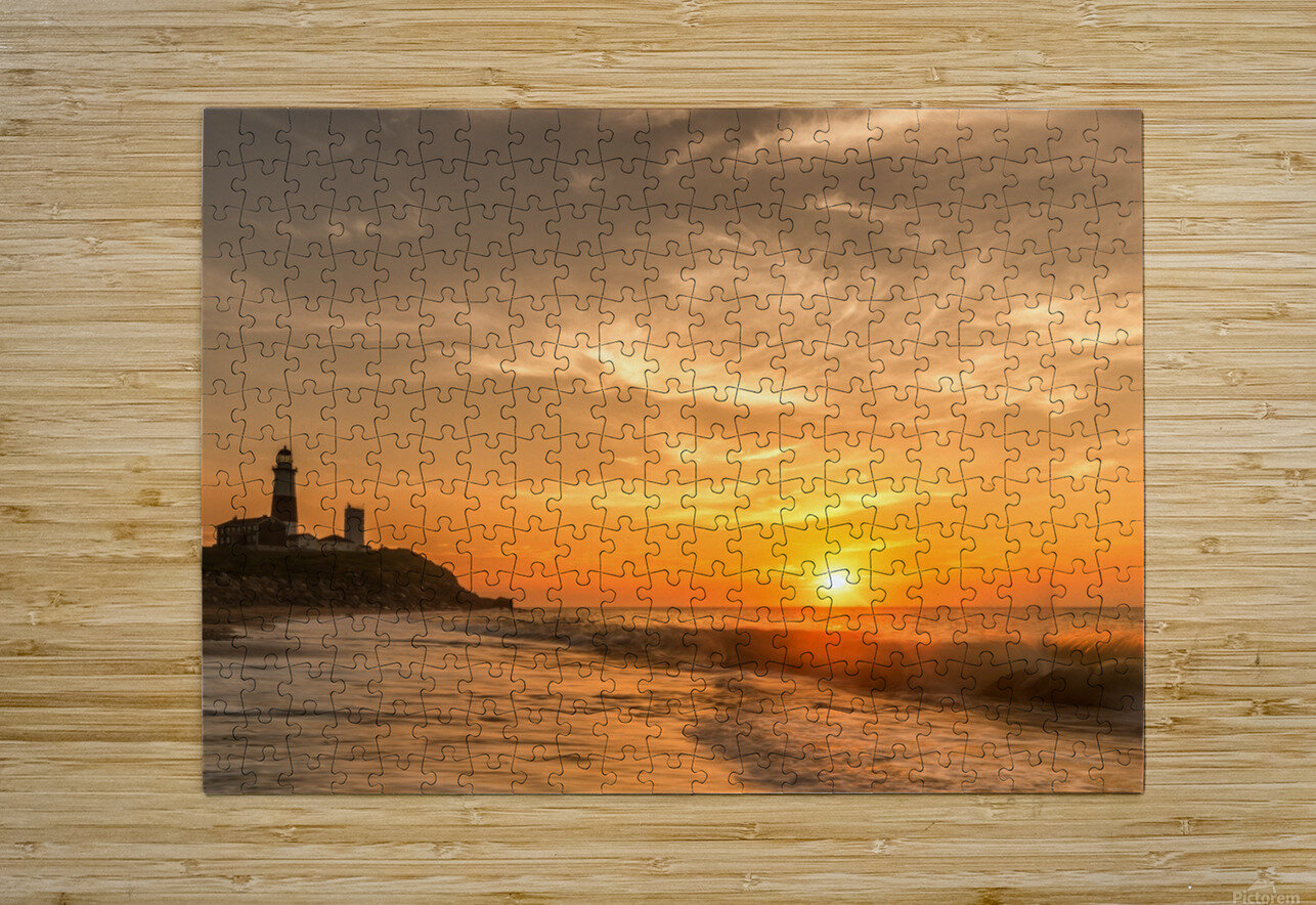 Montauk Beach  HD Metal print with Floating Frame on Back