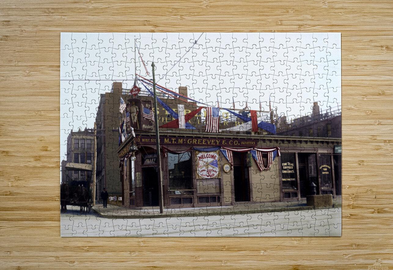McGreevys Third Base Saloon Boston 1903  HD Metal print with Floating Frame on Back