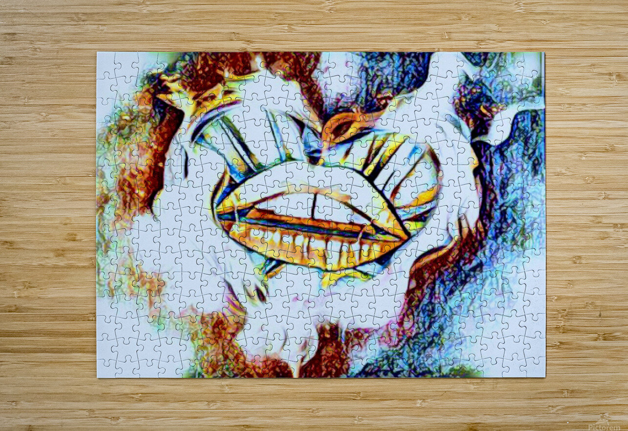 desire  HD Metal print with Floating Frame on Back