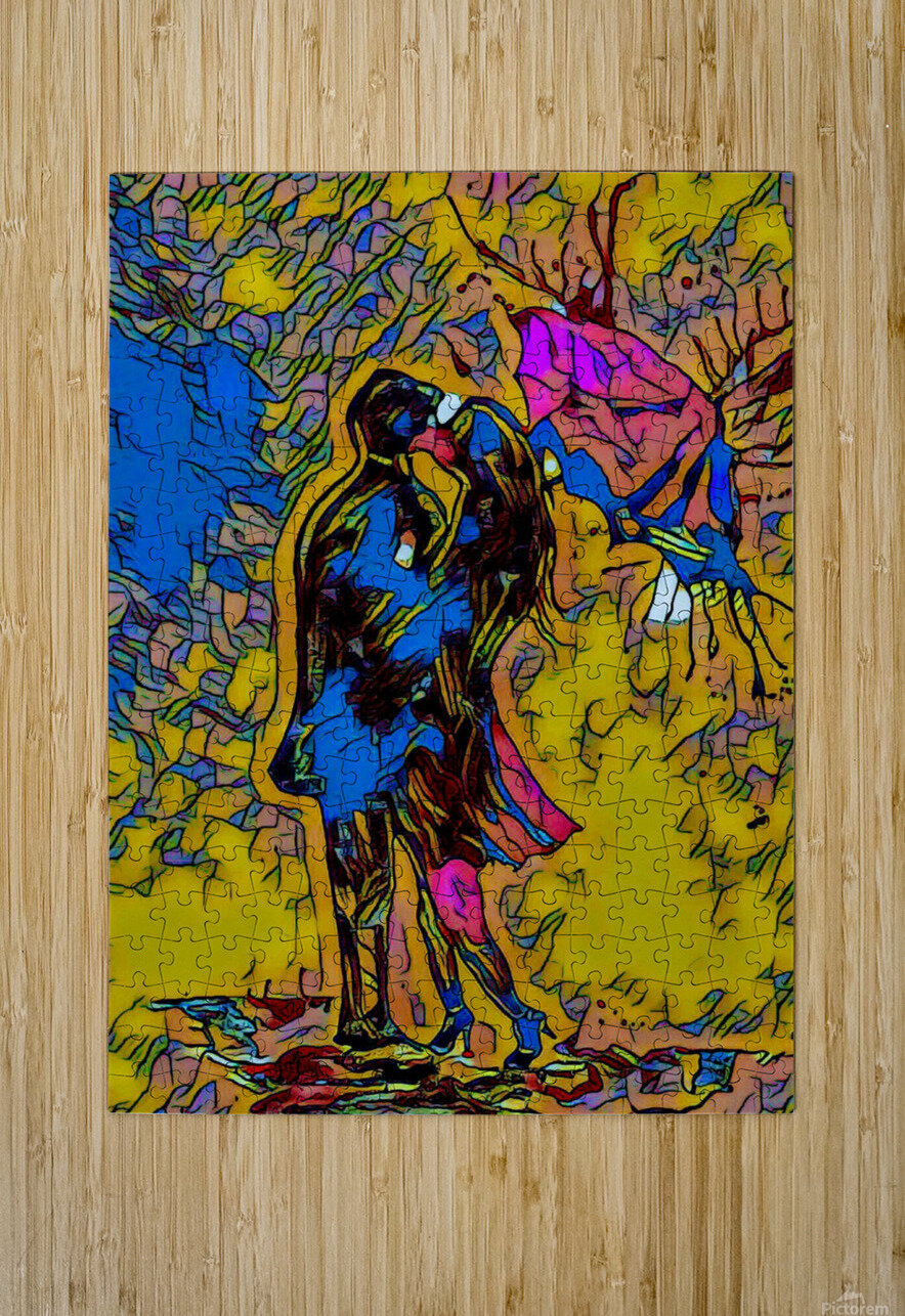 abstract love  HD Metal print with Floating Frame on Back