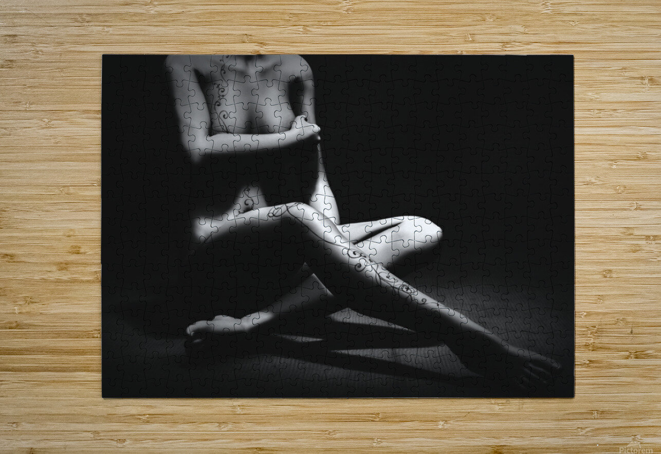 Tattoo  HD Metal print with Floating Frame on Back