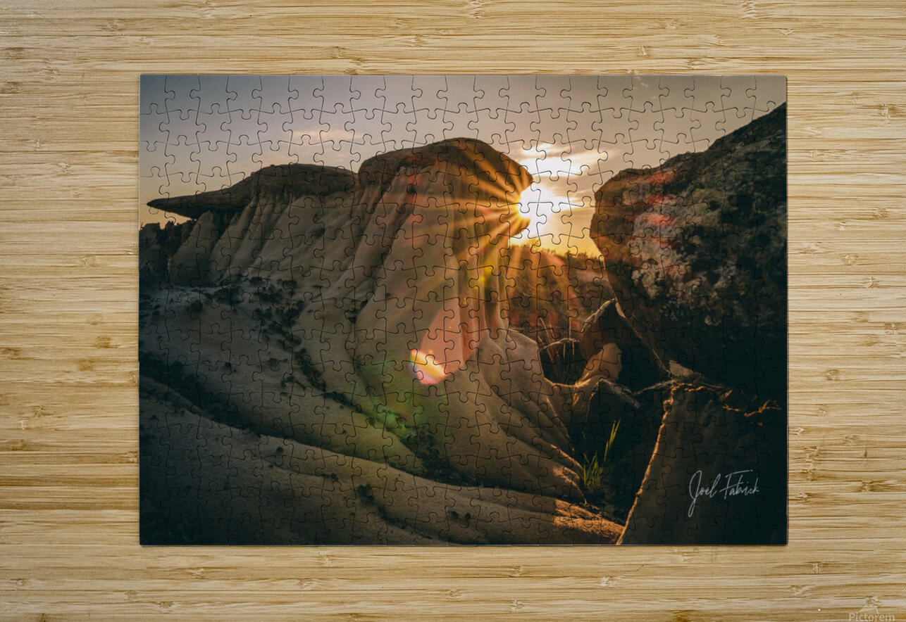 DPP Hoodoo Sunburst  HD Metal print with Floating Frame on Back