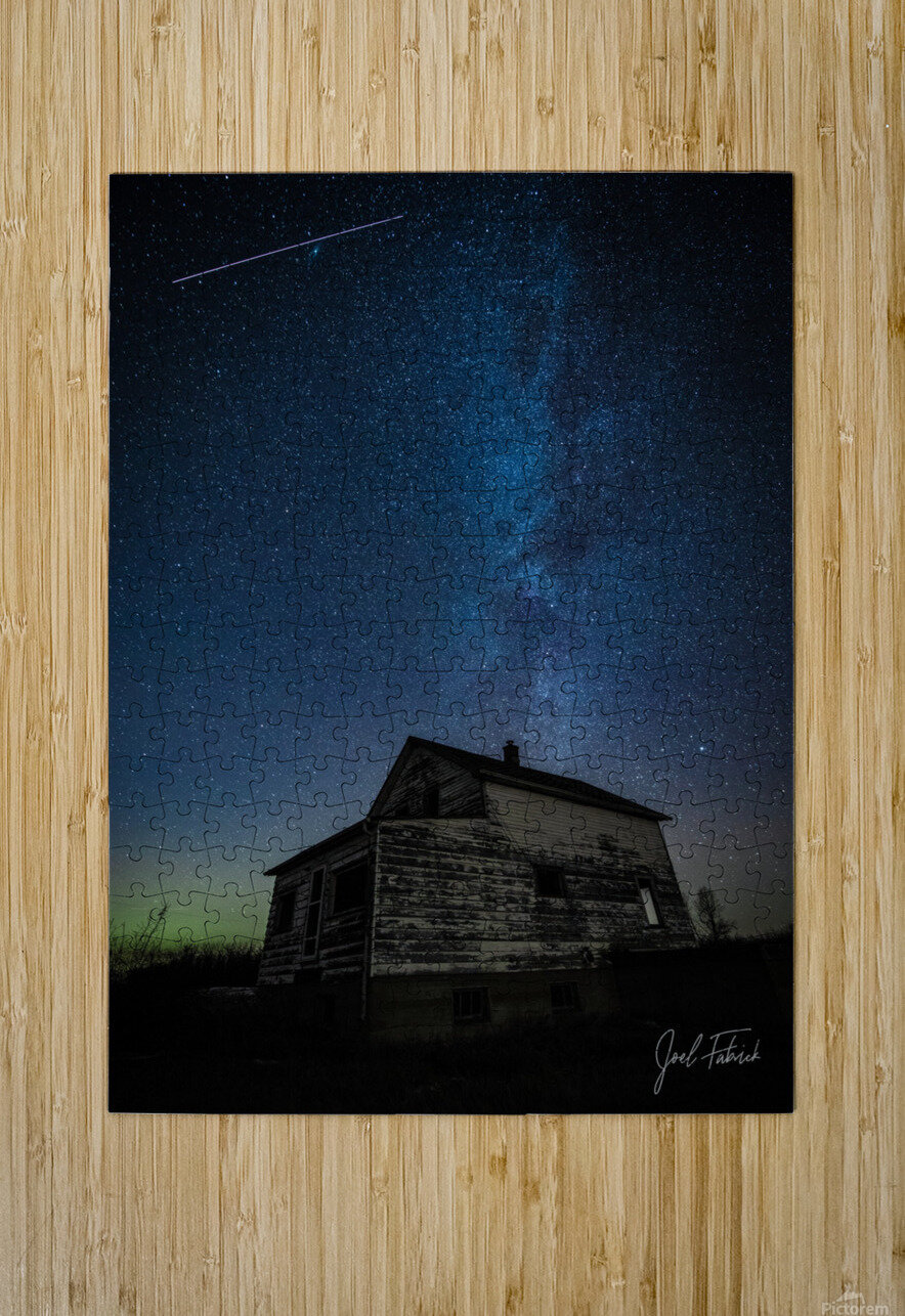 Abandoned House Milky Way   Hi Res   A3  HD Metal print with Floating Frame on Back