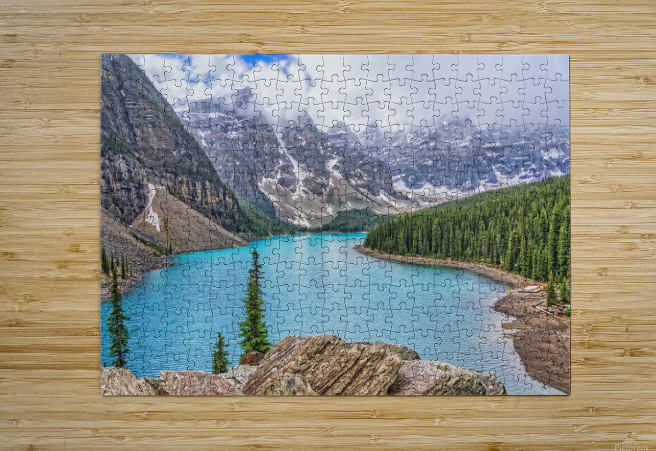 Moraine Lake in Banff National Park BC  HD Metal print with Floating Frame on Back