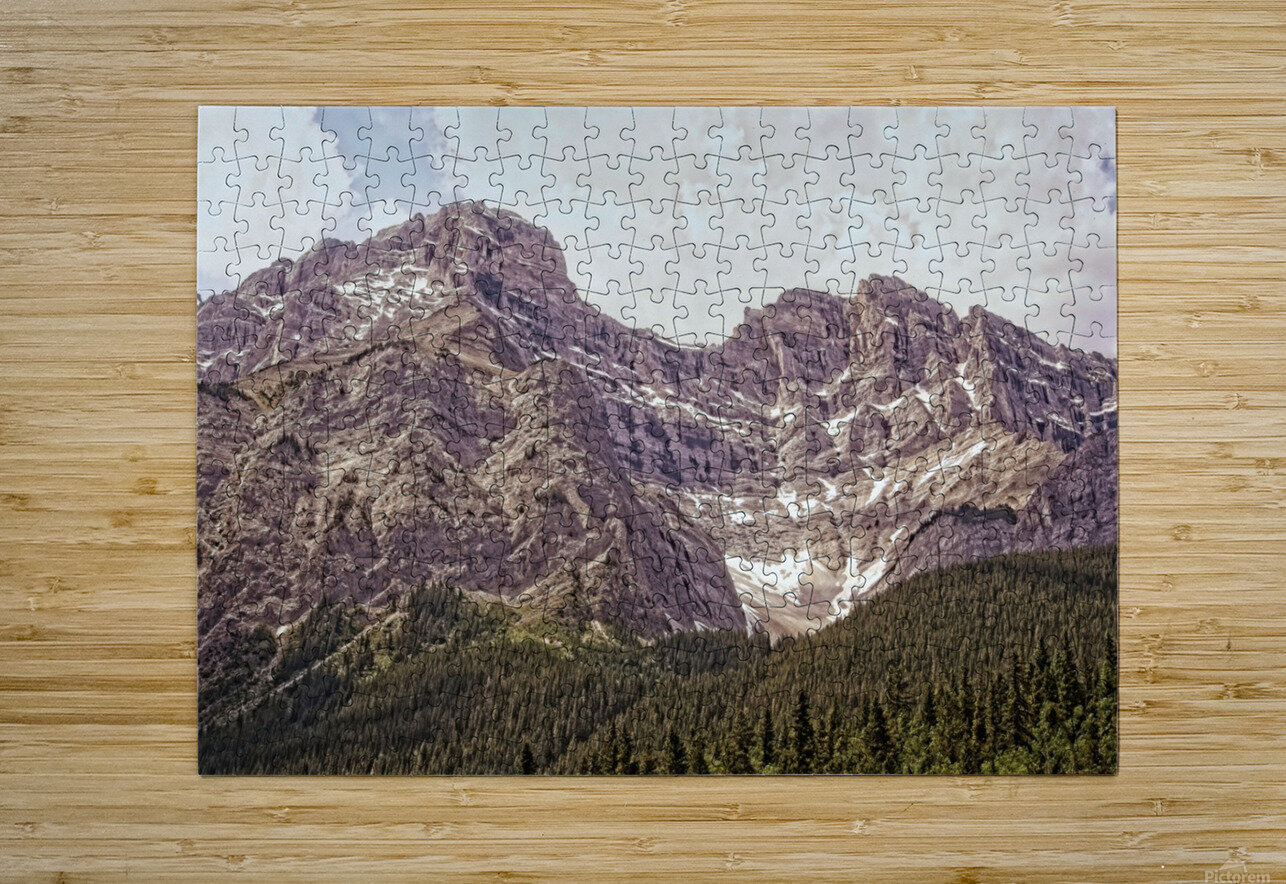 Cascade Mountain in Banff National Park BC  HD Metal print with Floating Frame on Back