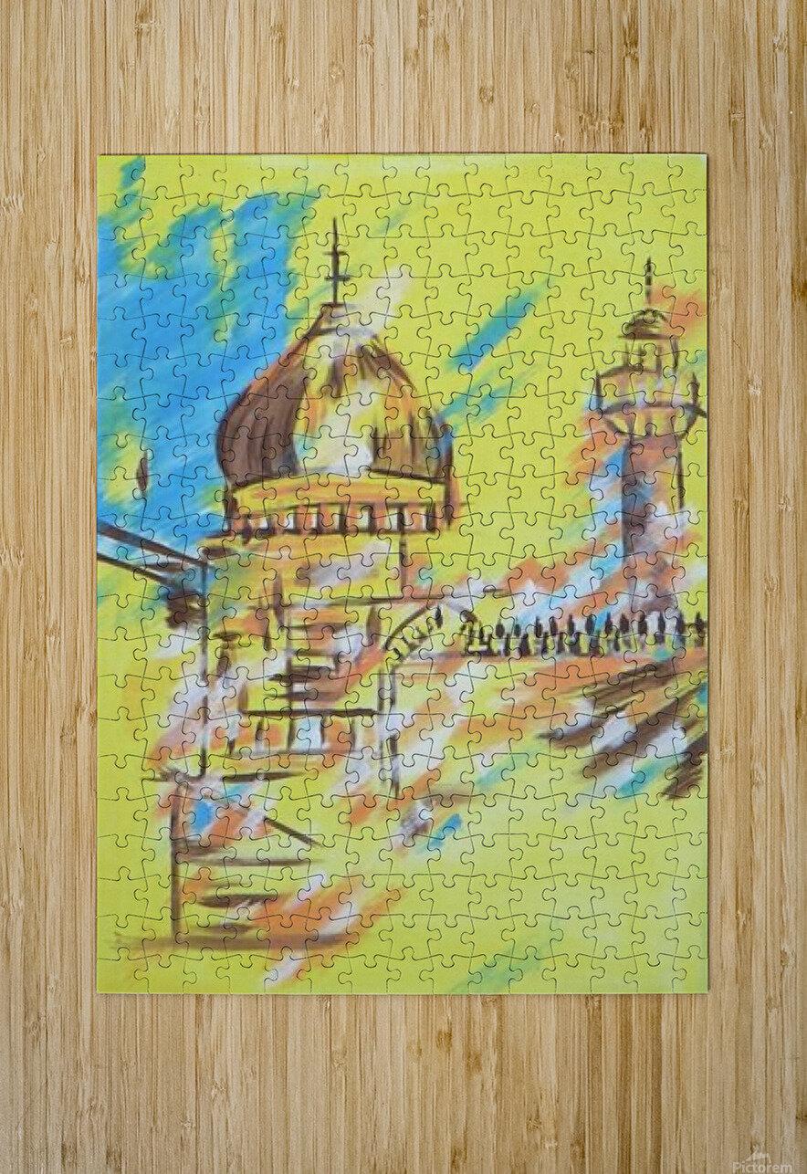 Ahson_Qazi_Geometrical_Islamic abstract artahson_qaziShades_of_DivinityIslamic_Artstretched canvass 12x16  HD Metal print with Floating Frame on Back