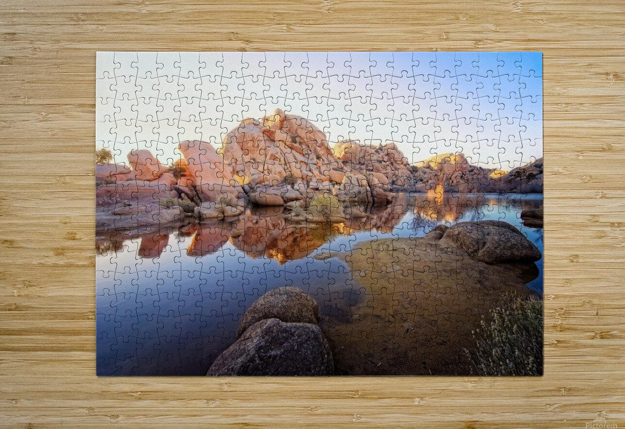 Barker Dam at Sunset  HD Metal print with Floating Frame on Back