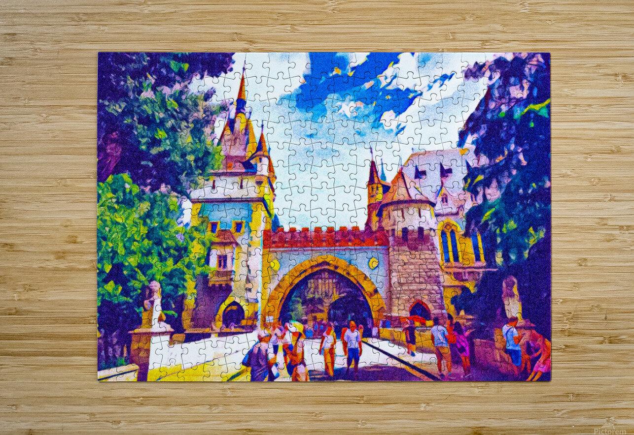 Vajdahunyad Castle  HD Metal print with Floating Frame on Back