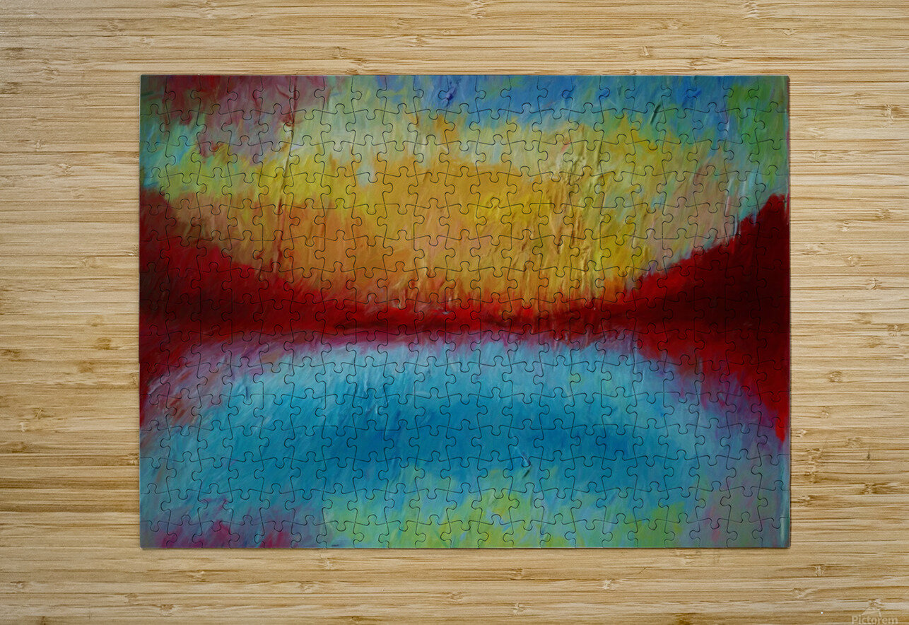 Red Mountains  HD Metal print with Floating Frame on Back