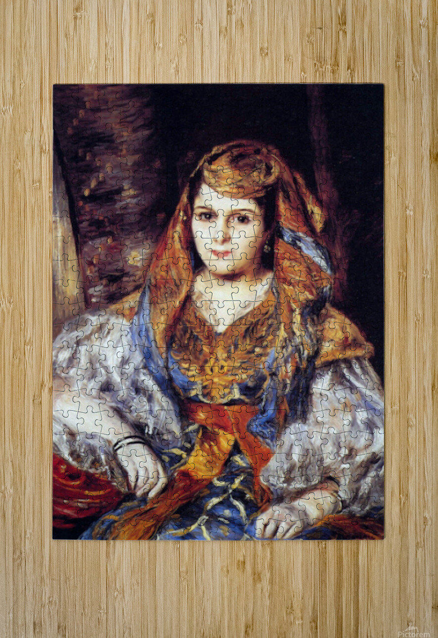 Algerian Woman by Renoir  HD Metal print with Floating Frame on Back