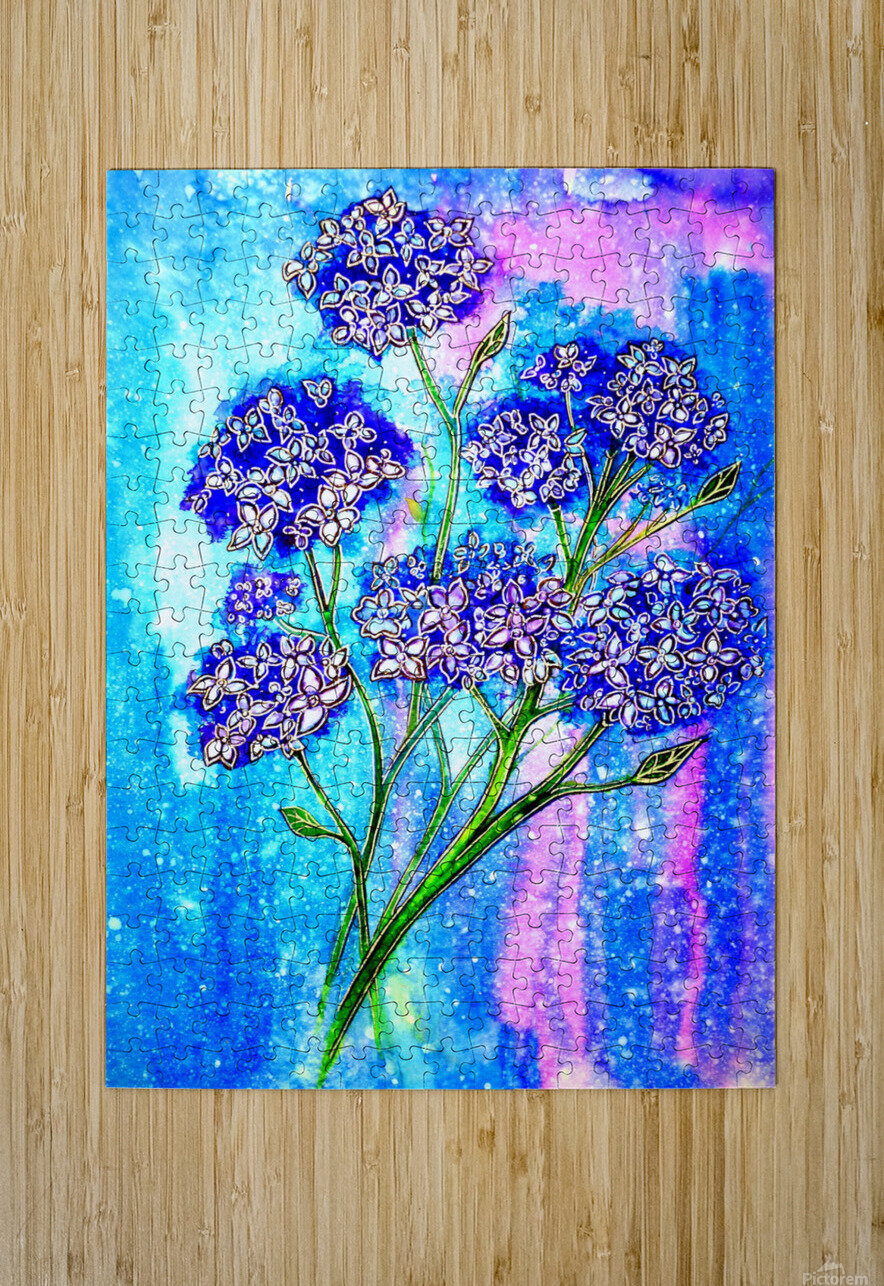 Hydrangeas  HD Metal print with Floating Frame on Back