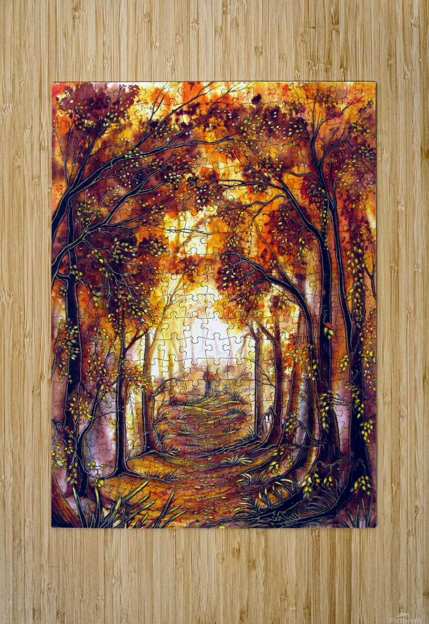 Autumn Memories  HD Metal print with Floating Frame on Back