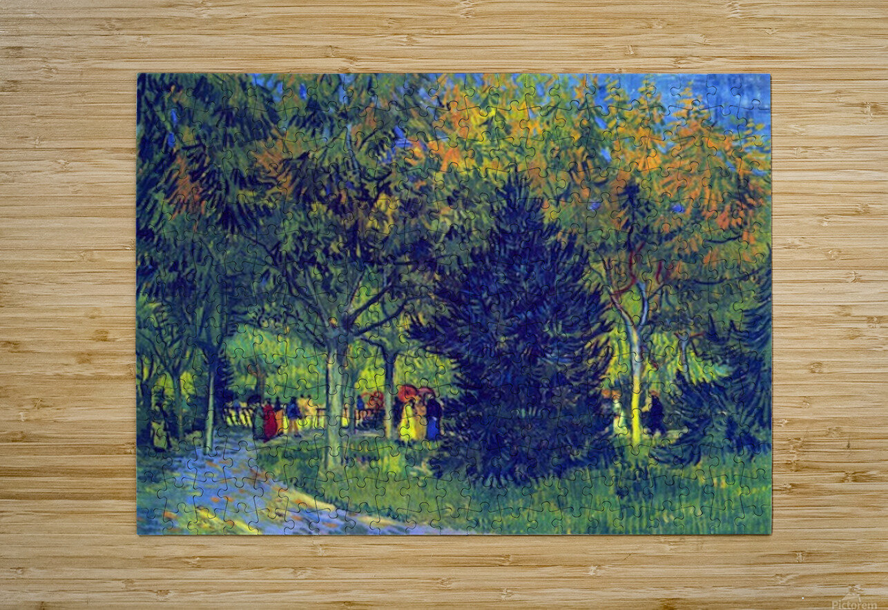 Allee in the Park by Van Gogh  HD Metal print with Floating Frame on Back