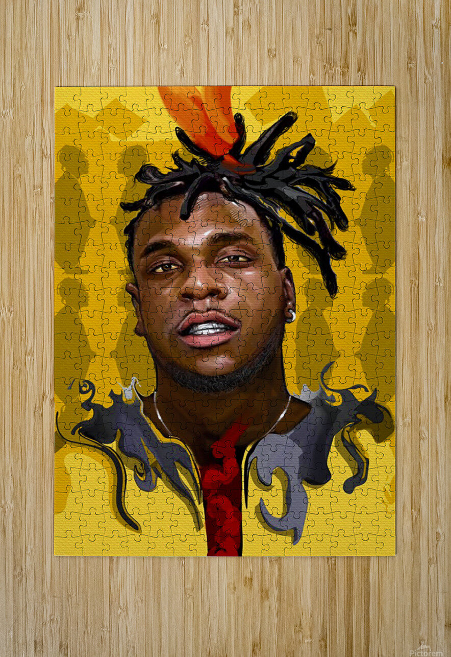 BURNA BOY  HD Metal print with Floating Frame on Back