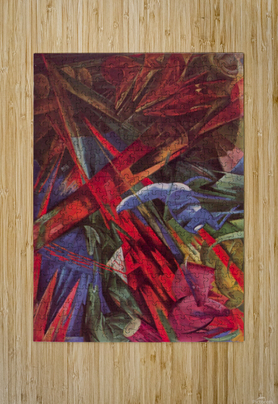 Animal Fates by Franz Marc  HD Metal print with Floating Frame on Back