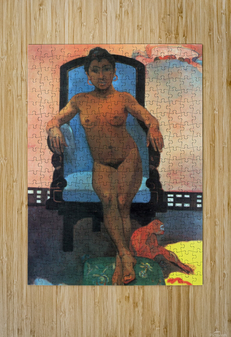 Anna the Java Woman by Gauguin  HD Metal print with Floating Frame on Back