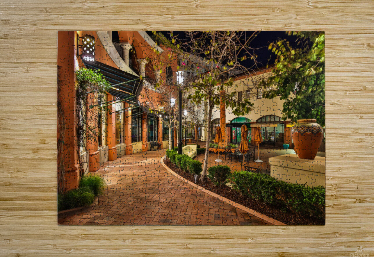 Quiet Walk  HD Metal print with Floating Frame on Back