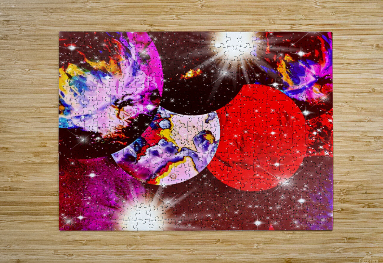 The Imaginary Planets Series 5  HD Metal print with Floating Frame on Back