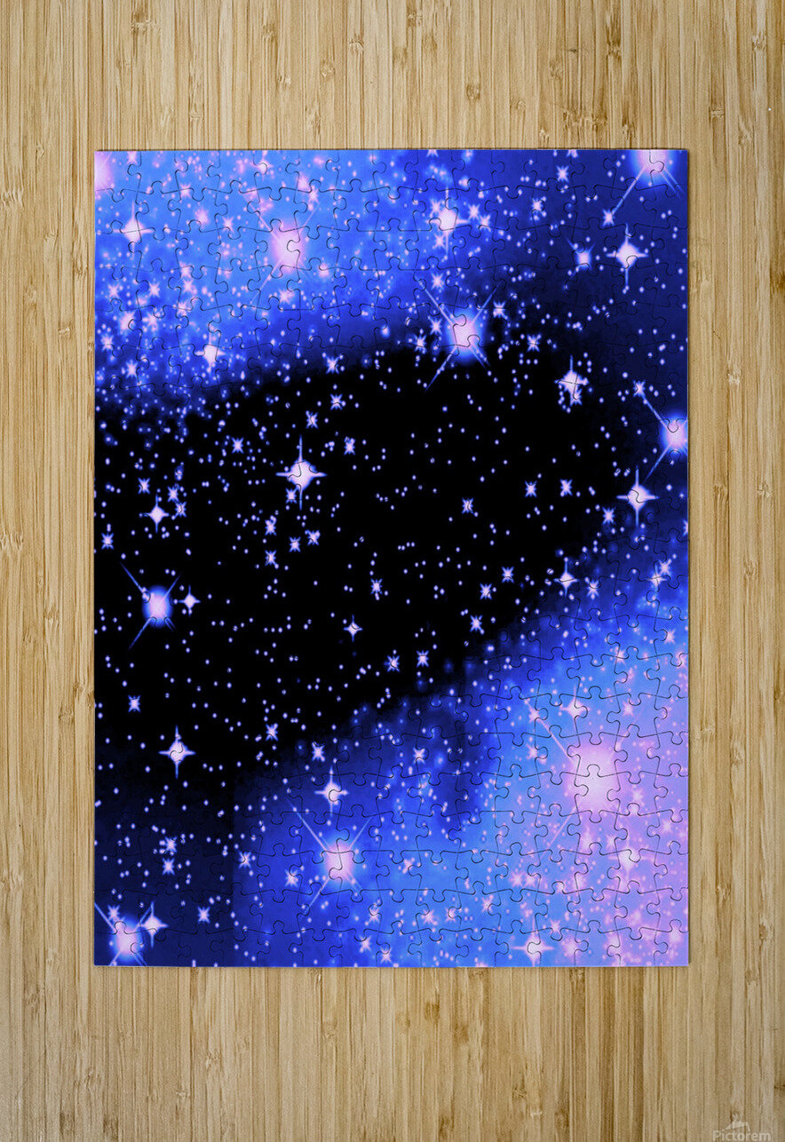 The Blue Realm  HD Metal print with Floating Frame on Back