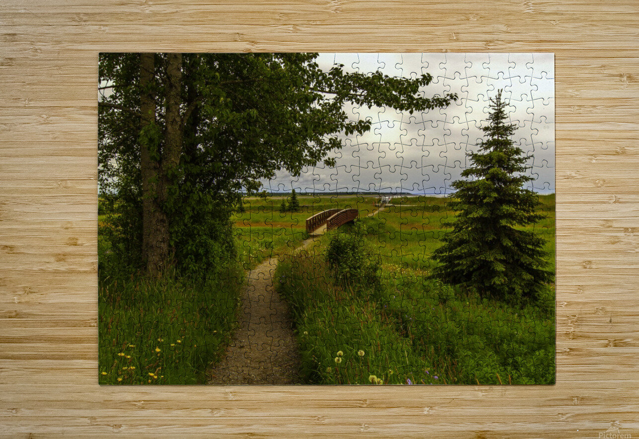 Walking Home  HD Metal print with Floating Frame on Back