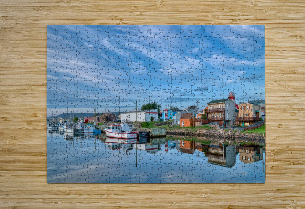 In The Harbour  HD Metal print with Floating Frame on Back