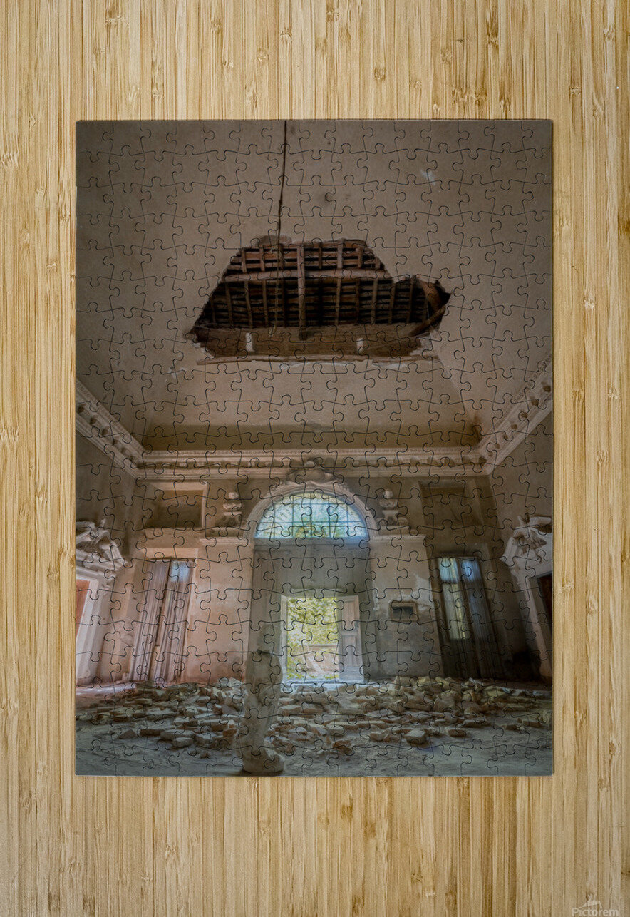 Abandoned Villa Decaying  HD Metal print with Floating Frame on Back