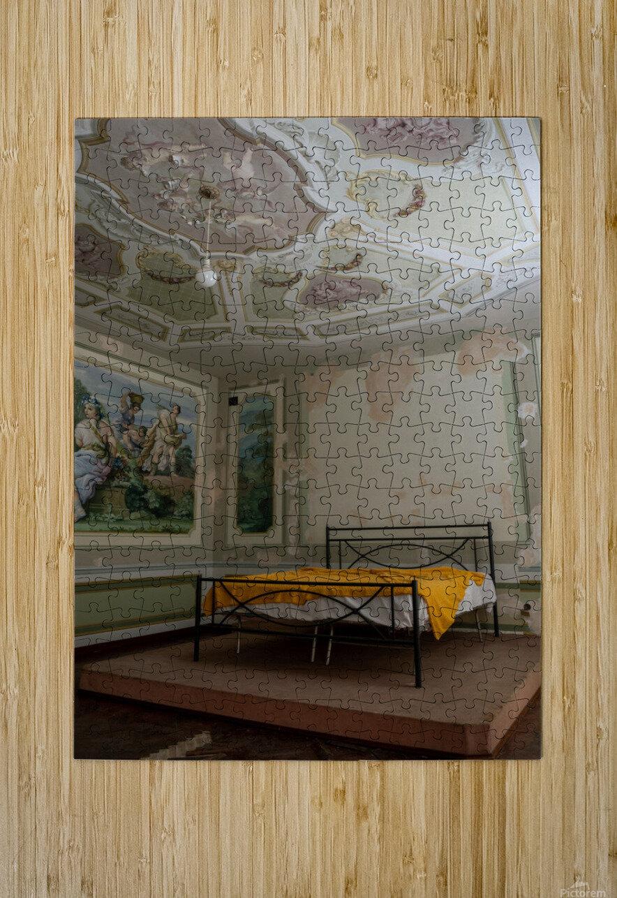 Abandoned Mansion Marvelous Bedroom  HD Metal print with Floating Frame on Back