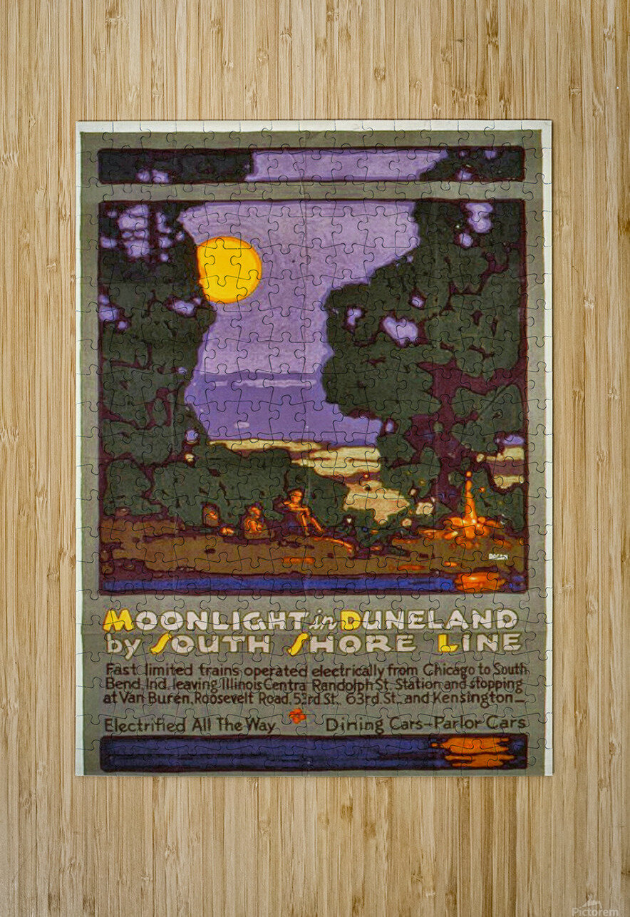 Moonlight  HD Metal print with Floating Frame on Back