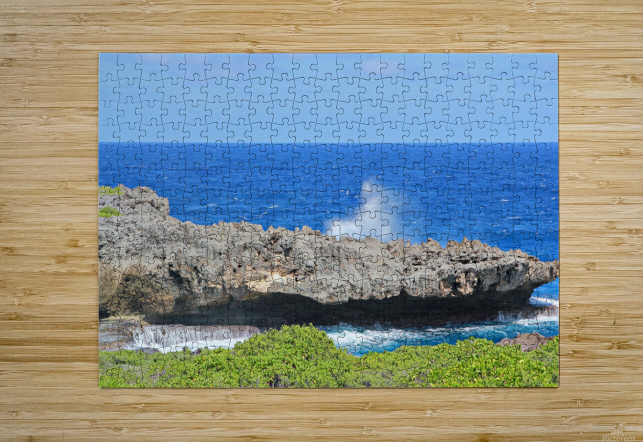 Rocky Ledge  HD Metal print with Floating Frame on Back